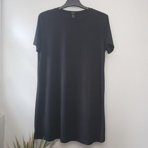 Forever 21 black scoop tee shirt dress  L